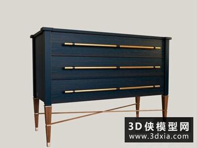 現代裝飾柜國外3D模型【ID:829381065】