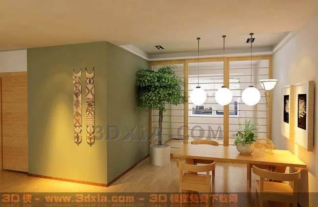 餐厅-BD3D模型【ID:29950】