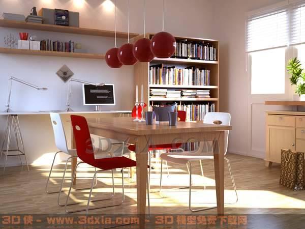 餐厅-CD3D模型【ID:29961】