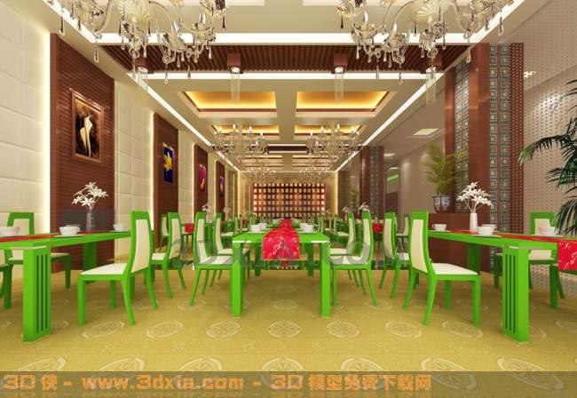 餐厅-CG3D模型【ID:29964】