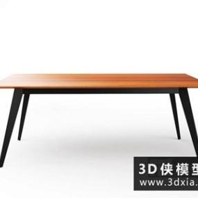 现代餐桌国外3D模型【ID:729765731】