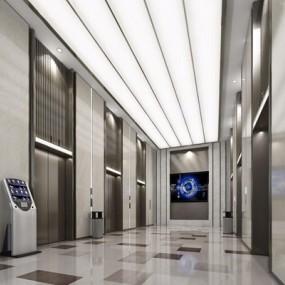 现代电梯厅3D模型【ID:427969999】