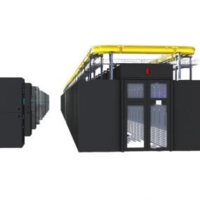 现代服务器机柜3d模型【ID:446657309】