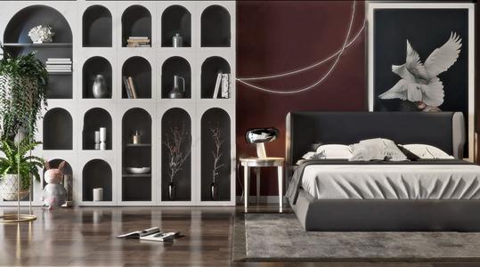 現代風格臥室家具3D模型【ID:841358785】