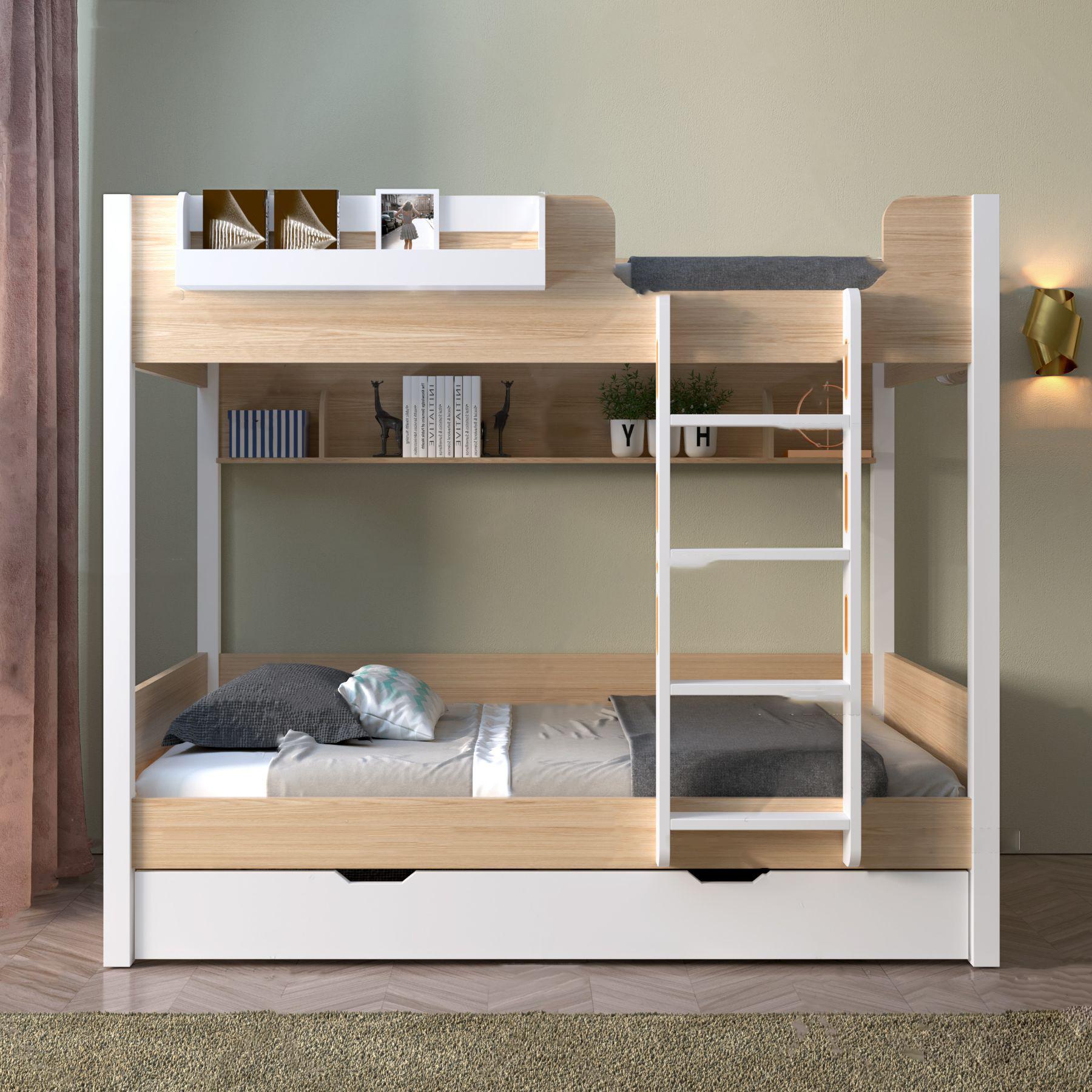 北歐上下鋪床3D模型【ID:843275804】