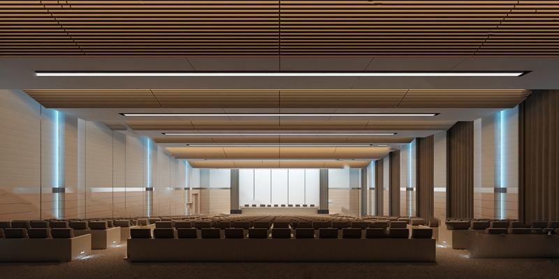 现代会议厅3D模型【ID:320604650】