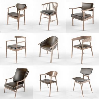 新中式椅子合集3D模型【ID:327921646】