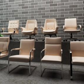 办公椅子一组3D模型【ID:227877977】