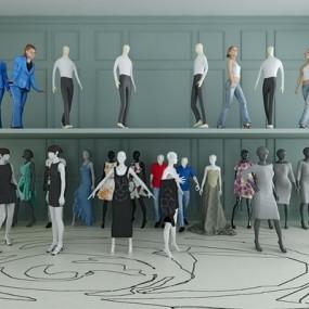 常用款商场办公模特人物合集3D模型【ID:227877998】