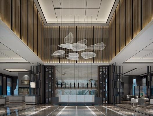 新中式售楼部3D模型【ID:427962583】