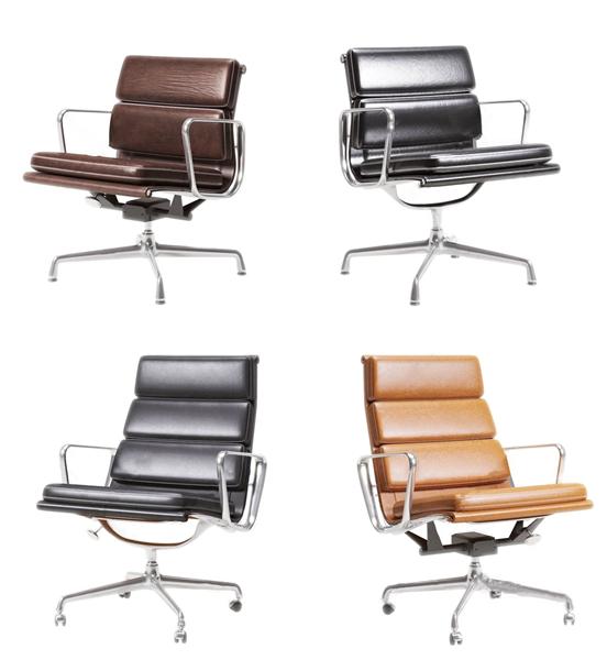 现代皮革办公椅组合