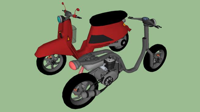 小型摩托車SU模型【ID:437577917】