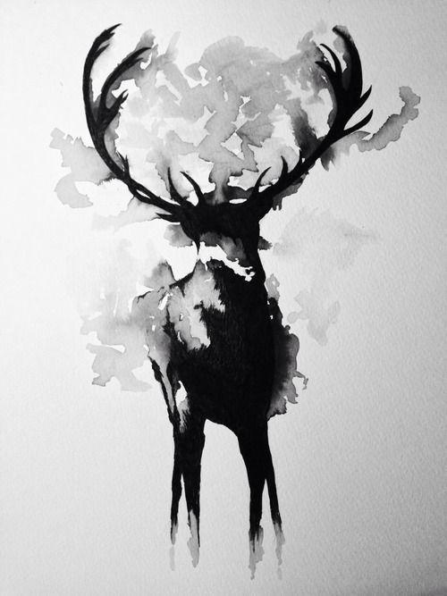 驯鹿装饰画高清贴图【ID:836617825】