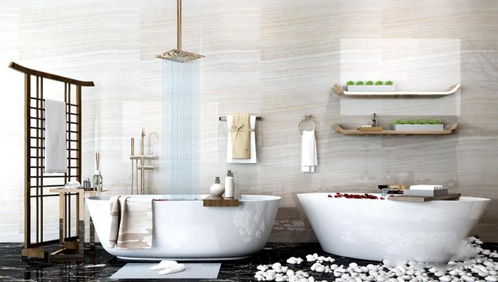 浴缸浴室用品3D模型【ID:127874758】