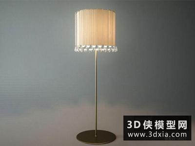 現代落地燈國外3D模型【ID:929658020】
