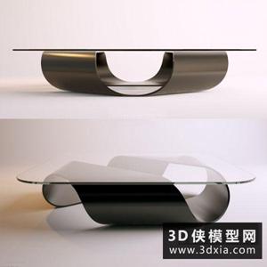 現代茶幾國外3D模型【ID:829784188】
