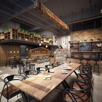 工業風咖啡廳3D模型【ID:328439618】
