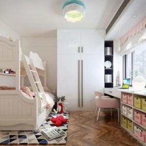 现代女孩房3D模型【ID:128220233】