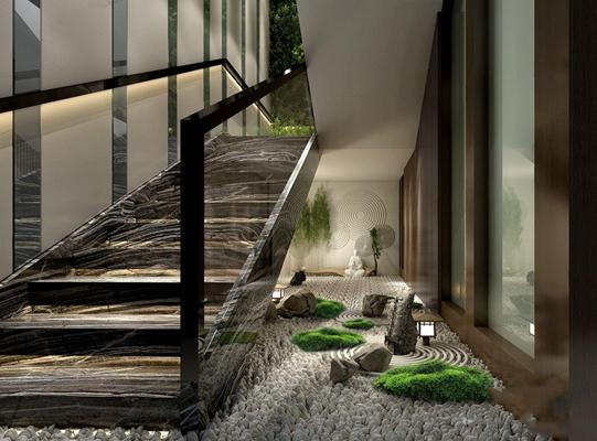 楼梯布景3D模型【ID:828140469】