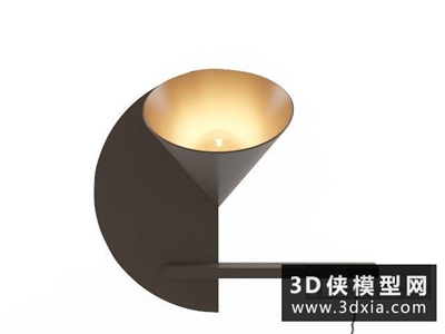 現代壁燈國外3D模型【ID:829539871】