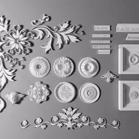 欧式美式雕花3D模型【ID:828326677】