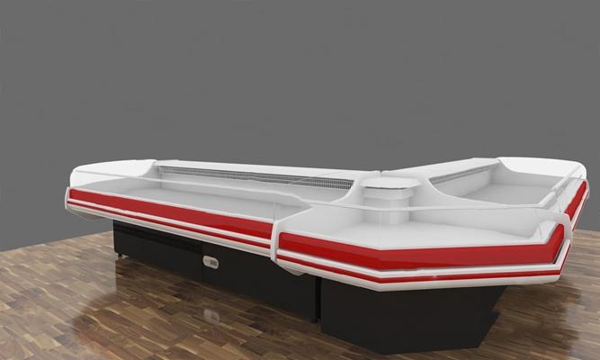 现代鲜肉货柜3D模型【ID:620613033】