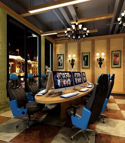 網吧競技椅3D模型【ID:227878859】