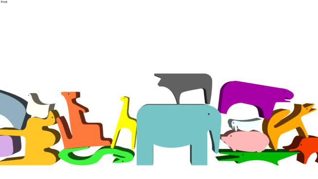 色彩豐富的動物,恩佐的丈夫SU模型【ID:639580751】