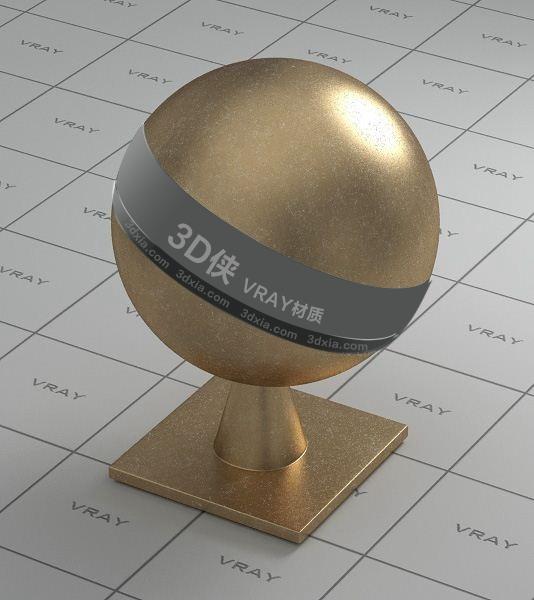 金色金屬Vray材質【ID:736425668】