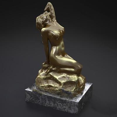 现代雕像3D模型【ID:920608960】