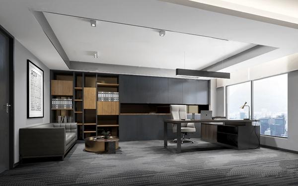 现代总经理办公室3D模型【ID:947405009】