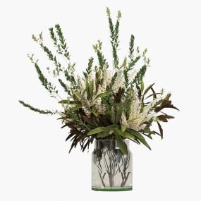 现代玻璃花瓶插花3d模型【ID:248246402】