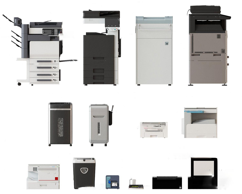 現代復印機打印機3D模型【ID:343427008】