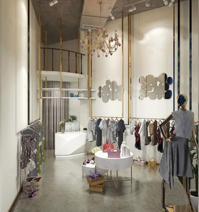现代服装店3D模型【ID:124896496】