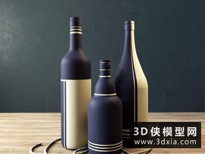 酒瓶國外3D模型【ID:929412598】