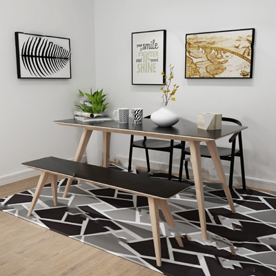 北欧桌椅组合3D模型【ID:320618502】