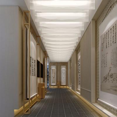 新中式书画展厅3D模型【ID:528022477】