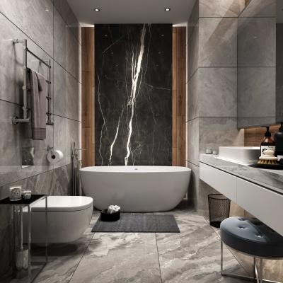 现代轻奢卫生间浴室3D模型【ID:128400678】