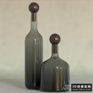 绿色瓶子国外3d模型【ID:929313834】