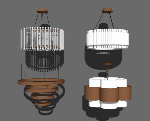 吊燈組合SU模型【ID:347337892】