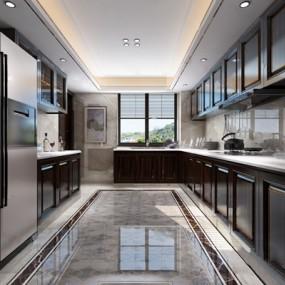 现代厨房3D模型【ID:124887434】