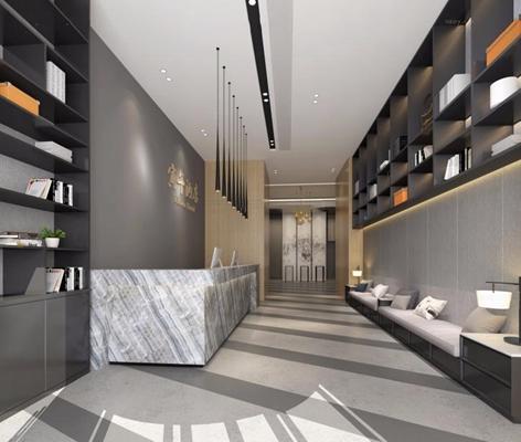 現代酒店大廳3D模型【ID:127852837】