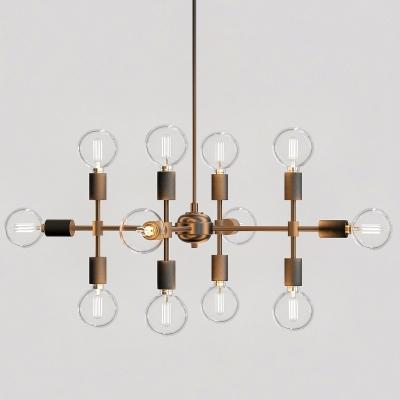 現代鐵藝玻璃吊燈3D模型【ID:527803817】