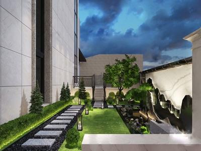 新中式別墅庭院花園3D模型【ID:550467687】