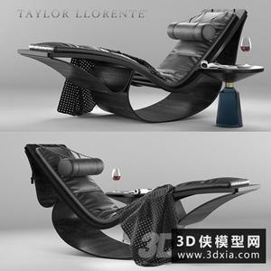 现代躺椅国外3D模型【ID:729320861】