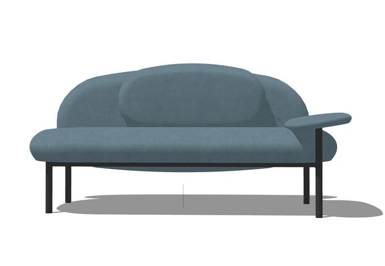 双人沙发SU模型【ID:336359852】