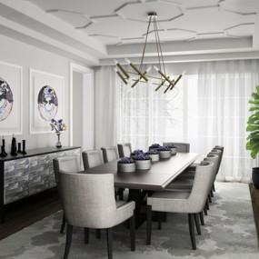 现代餐厅3D模型【ID:828157562】