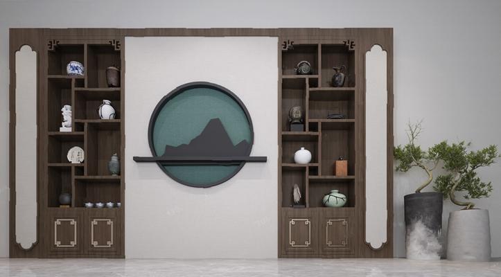 中式装饰柜3D模型【ID:926226978】
