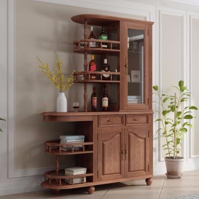 美式实木酒柜装饰柜3D模型【ID:928560024】