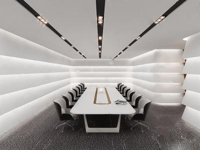 现代办公会议室3D模型【ID:720833801】